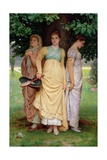 A Summer Shower, 1888 Giclee Print by Charles Edward Perugini