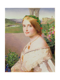 Portrait of Adelaide Mary, Mrs Philip Bedingfeld, 1859 Giclee Print by Anthony Frederick Augustus Sandys