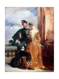 Amy Robsart (D.1560) and Robert Dudley, Earl of Leicester (1532-88) C.1827 Giclee Print by Richard Parkes Bonington