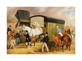 The Derby Pets: the Arrival, 1842 Giclee Print by James Pollard