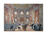 The Marble Room with Egyptian, Greek and Roman Antiquities of the Ambraser Gallery in the Lower… Giclee Print by Carl Goebel