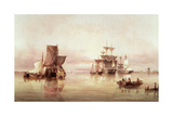 Shipping Scene Giclee Print by Henry Redmore