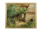 A Cottage Garden Giclee Print by Charles James Lewis