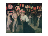 The 14th July 1895 Giclee Print by Théophile Alexandre Steinlen