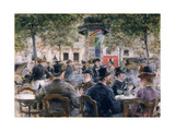 Cafe Scene in Paris, 1884 Giclee Print by Louis Anet Sabatier