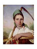 Peasant Woman with a Scythe and Rake, C.1825 Giclée-Druck von Aleksei Gavrilovich Venetsianov