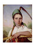 Peasant Woman with a Scythe and Rake, C.1825 Giclee Print by Aleksei Gavrilovich Venetsianov