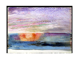 Sunset at Herne Hill Through the Smoke of London, 1876 Giclee Print by John Ruskin