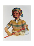 Shau-Hau-Napo-Tinia, an Iowa Chief, 1837, Illustration from 'The Indian Tribes of North America,… Giclee Print by Charles Bird King