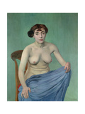 Nude in Blue Fabric, 1912 Giclee Print by Felix Edouard Vallotton
