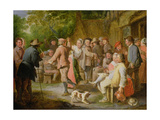 A Country Fete with Figures Dancing Giclee Print by Pierre Angelis or Angillis