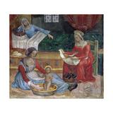 The Birth of St. John the Baptist Giclée-tryk af Bernardino di Betto Pinturicchio