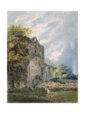 Pluscardine Abbey, Elgin, C.1793 Giclee Print by Thomas Girtin
