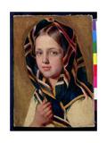 Girl in a Shawl Giclée-Druck von Aleksei Gavrilovich Venetsianov