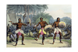 Natives of the Sandwich Islands Dancing, from 'Voyage Pittoresque Autour Du Monde', Engraved by… Giclee Print by Ludwig Choris
