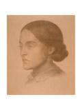Christina Rossetti Giclee Print by Dante Gabriel Rossetti