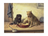 Bone of Contention, 1878 Giclee Print by Charles Van Den Eycken
