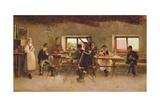 Revellers in a Pub, 1888 Gicléedruk van Simon Hollosy