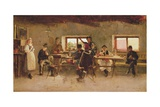 Revellers in a Pub, 1888 Giclee Print by Simon Hollosy