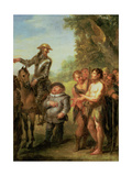 Don Quixote Frees the Galley Slaves, from Cervantes' 'Don Quixote' Giclée-Druck von John Vanderbanck