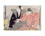 Lovers Becoming Familiar Giclee Print by Katsukawa Shuncho