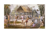 Maquarri Dance of the Arawaks at Koraia, from 'Indian Tribes of Guiana' by W.H. Brett Giclee Print by Harry Hamilton Johnston