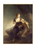 Roman Charity, an Allegory of Love Giclee Print by Carl Gustaf Pilo