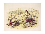 Zealous Gold Diggers, Bendigo, Plate 2 from 'Victoria Gold Diggings and Diggers as They Are',… Giclee Print by Samuel Thomas Gill