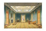 The Double Lobby or Gallery (South) Above the Corridor from Views of the Royal Pavilion, Brighton… Giclee Print by John Nash