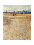 Wheatfield with Sheaves, 1888 Giclee Print by Vincent van Gogh