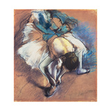 Dancer Fastening Her Pump, C.1880-85 Giclee Print by Edgar Degas