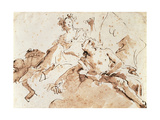 Zephyrus and Flora Giclee Print by Giovanni Battista Tiepolo