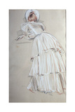 Woman Standing Leaning from Behind Giclee Print by Paul Cesar Helleu
