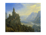 Mountainous Landscape with a Castle Giclee Print by Cornelis Saftleven