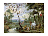 Earthly Paradise Giclee Print by Jan the Younger Brueghel
