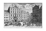 View of Stock-Im-Eisen-Platz, Vienna Engraved by Karl Remshard (1678-1735) Giclee Print by Salomon Kleiner