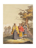The Caciche Indians in Traditional Costumes, Nova Granada, Brazil Giclee Print by Gallo Gallina