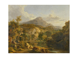 View in the Highlands, 1827 Giclée-Druck von George Vincent
