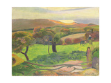 Landscape in Brittany (Le Pouldu) 1889 Wydruk giclee autor Paul Gauguin