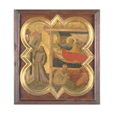 St. Francis Holding Up the Lateran Church Giclee Print by Taddeo Gaddi