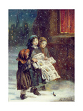 Carols for Sale Giclee Print by Augustus Edward Mulready