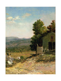 Study of Old Barn, West Campton, New Hampshire, 1865 Giclee Print by George Loring Brown