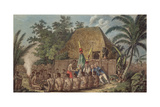 An Offering before Captain Cook in the Sandwich Islands, Plate 60 from 'A Voyage to the Pacific… Giclee Print by John Webber