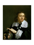 Self Portrait Holding a Roemer, 1662 Giclee Print by Karel Dujardin