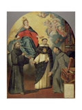 The Vision of Fray Lauterio, C.1640 Giclee Print by Bartolome Esteban Murillo
