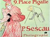 San/2975/D 'P. Sescau, Photographe', Shop Sign for the Artist's Friend the Photographer Paul… Lámina fotográfica por Henri de Toulouse-Lautrec