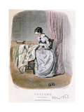 A Couturier at Work, Engraved by Gervais (19th Century) 1854 Giclee Print by Pierre Gustave Eugene Staal