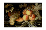 Still Life with Peaches, Melon and Grapes Giclee Print by Pierre Dupuis