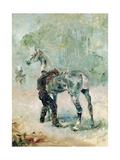 Artilleryman Saddling His Horse, 1879 Lámina giclée por Henri de Toulouse-Lautrec