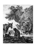 The Animals Fallen Sick with the Plague, Illustration for the Fables of La Fontaine, 1755 Giclee Print by Jean-Baptiste Oudry